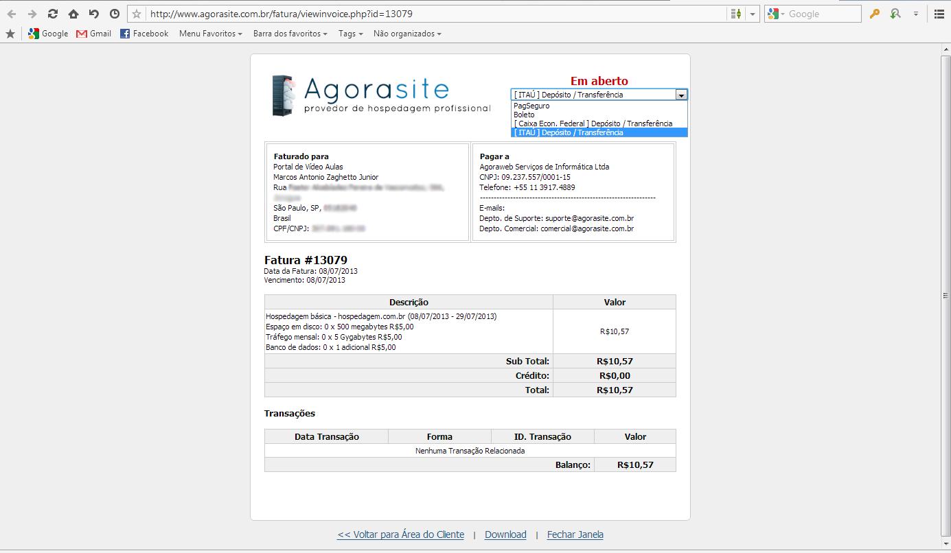 Pagamento por dep sito ou transfer ncia banc ria base de for Transferencia bancaria
