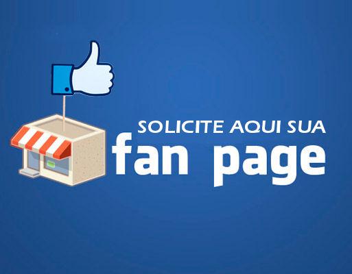 solicitar aqui a criação de fan page no facebook